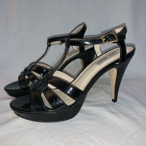 Steve Madden Daarling Black Platform Sandal 10